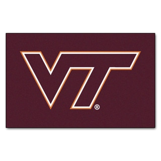 Fanmats Machine-Made Virginia Tech Burgundy Nylon Ulti-Mat (5' x 8')
