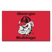 Fanmats Machine-Made University of Georgia Red Nylon Ulti-Mat (5' x 8')