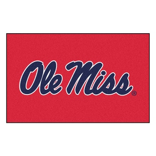 Fanmats Machine-Made University of Mississippi Red Nylon Ulti-Mat (5' x 8')