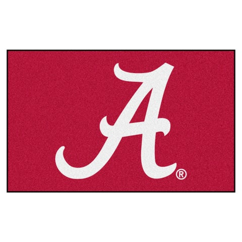 Fanmats Machine-Made University of Alabama Burgundy Nylon Ulti-Mat (5' x 8')