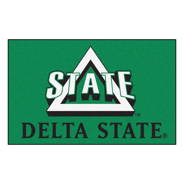Fanmats Machine-Made Delta State University Green Nylon Ulti-Mat (5' x 8')