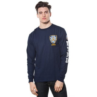 Men's NYPD Logo Patch Cotton Long-sleeve Tee