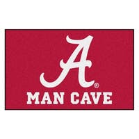 Fanmats Machine-Made University of Alabama Burgundy Nylon Man Cave Ulti-Mat (5' x 8')