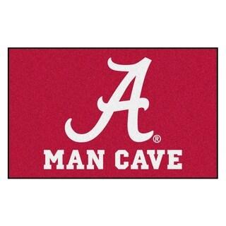Fanmats Machine-Made University of Alabama Burgundy Nylon Man Cave Ulti-Mat (5' x 8')