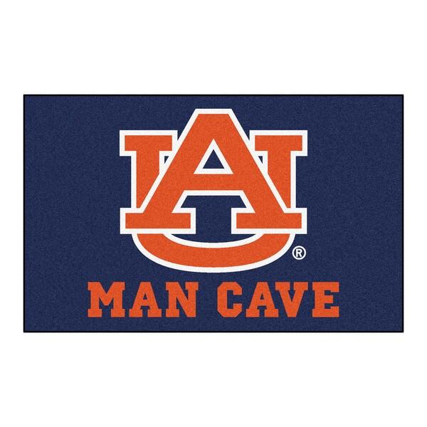 Fanmats Machine-Made Auburn University Blue Nylon Man Cave Ulti-Mat (5' x 8')