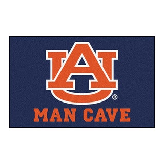 Fanmats Machine-Made Auburn University Blue Nylon Man Cave Ulti-Mat (5' x 8')