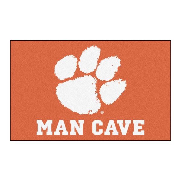 Fanmats Machine-Made Clemson University Orange Nylon Man Cave Ulti-Mat (5' x 8')