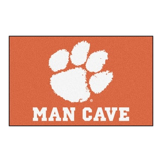 Fanmats Machine-Made Clemson University Orange Nylon Man Cave Ulti-Mat (5' x 8')
