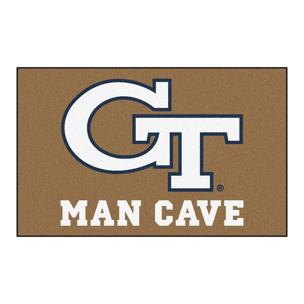 Fanmats Machine-Made Georgia Tech Tan Nylon Man Cave Ulti-Mat (5' x 8')
