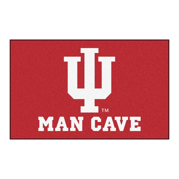 Fanmats Machine-Made Indiana University Red Nylon Man Cave Ulti-Mat (5' x 8')