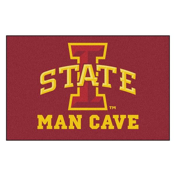 Fanmats Machine-Made Iowa State University Burgundy Nylon Man Cave Ulti-Mat (5' x 8')