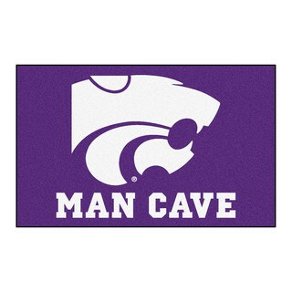 Fanmats Machine-Made Kansas State University Purple Nylon Man Cave Ulti-Mat (5' x 8')