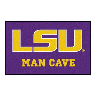 Fanmats Machine-Made Louisiana State University Purple Nylon Man Cave Ulti-Mat (5' x 8')