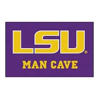 Fanmats Machine-Made Louisiana State University Purple Nylon Man Cave Ulti-Mat (5' x 8')