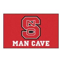Fanmats Machine-Made North Carolina State Red Nylon Man Cave Ulti-Mat (5' x 8')