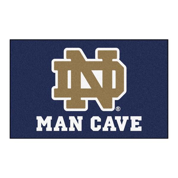 Fanmats Machine-Made Notre Dame Blue Nylon Man Cave Ulti-Mat (5' x 8')