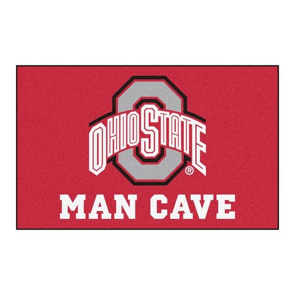 Fanmats Machine-Made Ohio State University Red Nylon Man Cave Ulti-Mat (5' x 8')