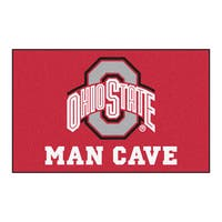Fanmats Machine-Made Ohio State University Red Nylon Man Cave Ulti-Mat (5' x 8')