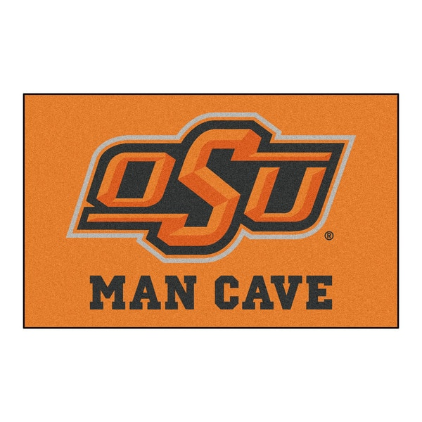 Fanmats Machine-Made Oklahoma State University Orange Nylon Man Cave Ulti-Mat (5' x 8')