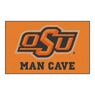 Fanmats Machine-Made Oklahoma State University Orange Nylon Man Cave Ulti-Mat (5' x 8')