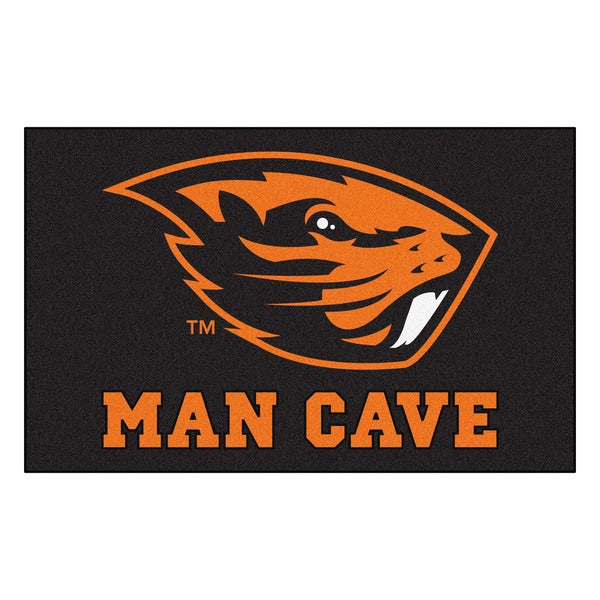 Fanmats Machine-Made Oregon State University Black Nylon Man Cave Ulti-Mat (5' x 8')