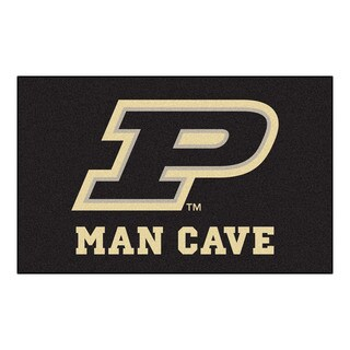 Fanmats Machine-Made Purdue University Black Nylon Man Cave Ulti-Mat (5' x 8')