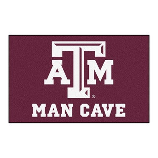 Fanmats Machine-Made Texas A&M University Burgundy Nylon Man Cave Ulti-Mat (5' x 8')
