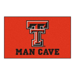 Fanmats Machine-Made Texas Tech University Red Nylon Man Cave Ulti-Mat (5' x 8')