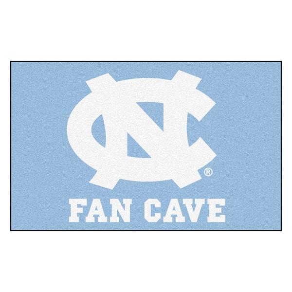 Fanmats Machine-Made University of North Carolina - Chapel Hill Blue Nylon Man Cave Ulti-Mat (5' x 8')