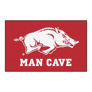 Fanmats Machine-Made University of Arkansas Red Nylon Man Cave Ulti-Mat (5' x 8')