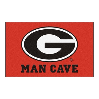 Fanmats Machine-Made University of Georgia Red Nylon Man Cave Ulti-Mat (5' x 8')