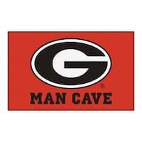 Fanmats Machine-Made University of Georgia Red Nylon Man Cave Ulti-Mat (5' x 8')