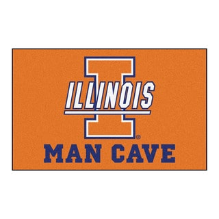 Fanmats Machine-Made University of Illinois Orange Nylon Man Cave Ulti-Mat (5' x 8')