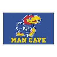 Fanmats Machine-Made University of Kansas Blue Nylon Man Cave Ulti-Mat (5' x 8')