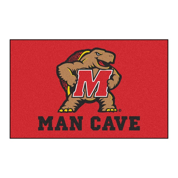 Fanmats Machine-Made University of Maryland Red Nylon Man Cave Ulti-Mat (5' x 8')