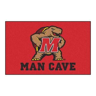 Fanmats Machine-Made University of Maryland Red Nylon Man Cave Ulti-Mat (5' x 8')