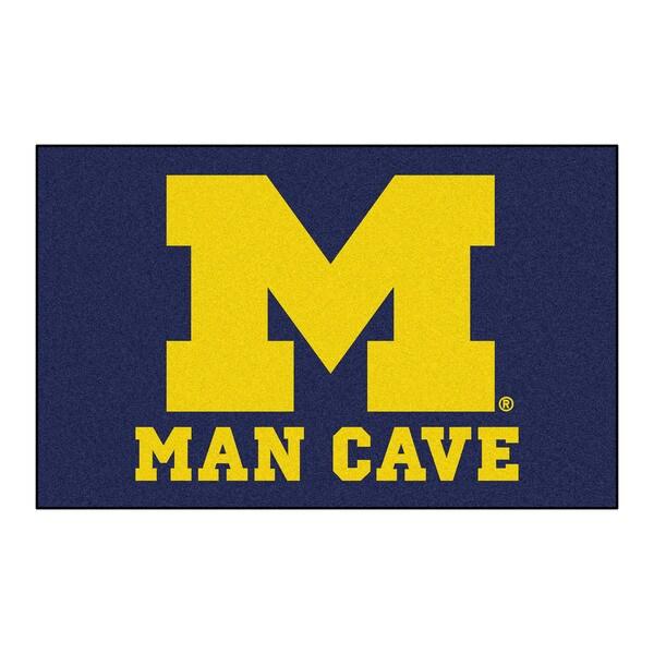 Fanmats Machine-Made University of Michigan Blue Nylon Man Cave Ulti-Mat (5' x 8')