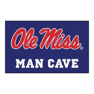 Fanmats Machine-Made University of Mississippi Blue Nylon Man Cave Ulti-Mat (5' x 8')