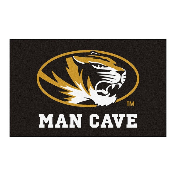 Fanmats Machine-Made University of Missouri Black Nylon Man Cave Ulti-Mat (5' x 8')