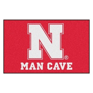 Fanmats Machine-Made University of Nebraska Red Nylon Man Cave Ulti-Mat (5' x 8')