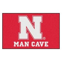 Fanmats Machine-Made University of Nebraska Red Nylon Man Cave Ulti-Mat (5' x 8')