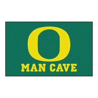 Fanmats Machine-Made University of Oregon Green Nylon Man Cave Ulti-Mat (5' x 8')