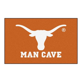 Fanmats Machine-Made University of Texas Orange Nylon Man Cave Ulti-Mat (5' x 8')