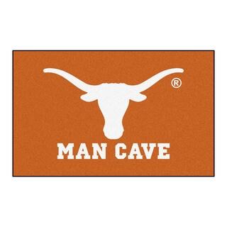 Fanmats Machine-Made University of Texas Orange Nylon Man Cave Ulti-Mat (5' x 8')