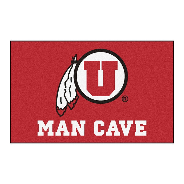 Fanmats Machine-Made University of Utah Red Nylon Man Cave Ulti-Mat (5' x 8')