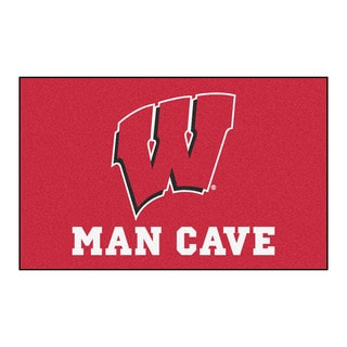 Fanmats Machine-Made University of Wisconsin Red Nylon Man Cave Ulti-Mat (5' x 8')