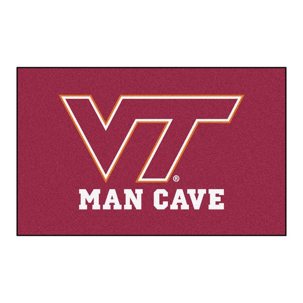 Fanmats Machine-Made Virginia Tech Burgundy Nylon Man Cave Ulti-Mat (5' x 8')