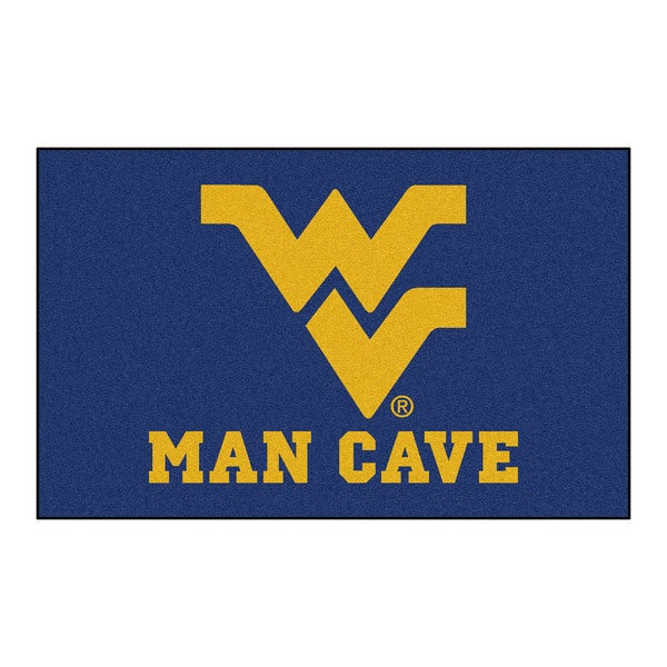 Fanmats Machine-Made West Virginia University Blue Nylon Man Cave Ulti-Mat (5' x 8')