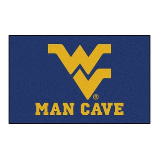 Fanmats Machine-Made West Virginia University Blue Nylon Man Cave Ulti-Mat (5' x 8')
