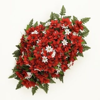 Sage & Co 34-inch Poinsettia Headstone Spray